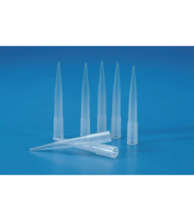 PIPETTE TIPS, GILSON PP, 100-1000ul, BLUE, Overall length: 72mm