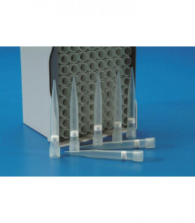 PIPETTE TIP IN RACKS-FILTER,TYPE EPP PP,101-1000uL, NEUTRAL, STERILE, 96 IN RACK