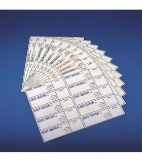 LABELS-ACETONE, RED, 130x35mm, 1 PAGE OF 10 LABELS