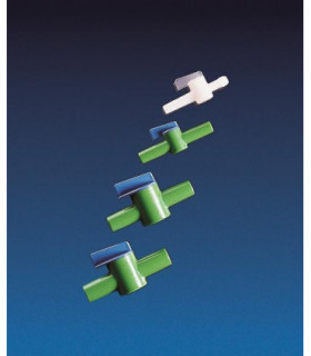 TAP INTERCEPTION PP + HDPE, 10mm, BORE 7mm, Green & blue