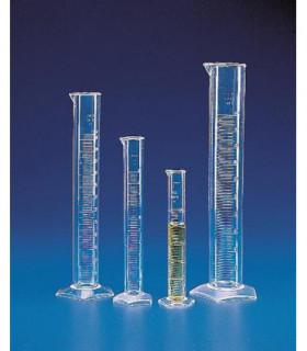 CYLINDER MEASURING T/F TPX, 25ml, Grad 5ml, Sub. 0.5ml, 18.5mm D, 195mm H, Tol +/- 0.5ml