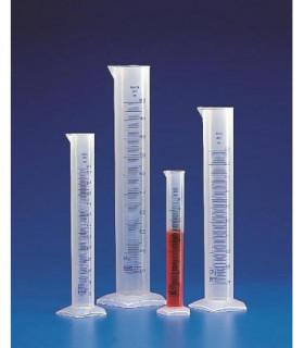 CYLINDER MEAS T/F BLUE GRAD PP, 50ml, Grad 10ml, Subdiv. 1ml, Tol. +/- 1ml, O.D. 25.5mm D, 199mm H