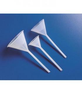 FUNNEL LONG STEM PP, 78.5mm D, cap 100ml, Stem: 143mm L, 8mm D