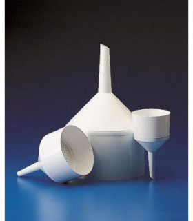 FUNNEL BUCHNER PP, 390ml, Filter 90mm D, Stem: 68mm L, Holes: 2.5mm