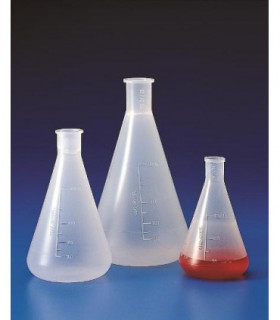 FLASKS ERLENMEYER PP, 1LT, Grad 50ml, Neck 29/32