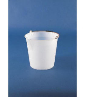 BUCKET-WITH SPOUT LDPE, 12L, 300mm D, 280mmH, WHITE
