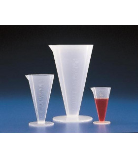 MEASURES CONICAL, GRAD PP, 100ml,Grad 2ml, 118mmH