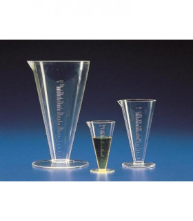 MEASURES CONICAL GRAD TPX, 250ml, Grad 5ml, 162mm H
