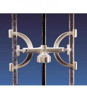 CLAMP, BURETTE PP, 2 PLACE, Supports rods of 8-14mm D