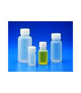 BOTTLE STD & CAP W/N PP, 100ml, Grad 20ml, 48mm D, 105mm H, MOUTH 24mm D