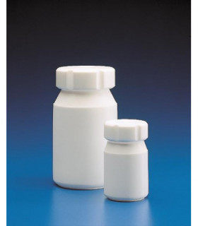 BOTTLE PTFE, 100ml, 52.56mm D, 89.82mm H, MOUTH 35.24mm D