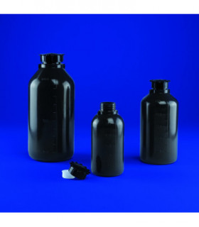 BOTTLE OPAQUE N/N PE, 125ml, 46mm D, 115mm H, MOUTH 18.5mm D