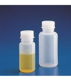 BOTTLE STD & CAP W/N PE, 100ml, Grad 20ml, 48mm D, 105mm H, MOUTH 24mm D