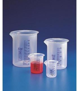 BEAKER BLUE GRAD PP, 50ml, Sub. 2ml, 41mm D, 60mm H, Tol +/- 10%
