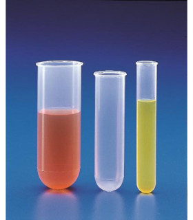 TUBE TEST CENTRIFUGE, CYLINDRICAL PP, 16ml, 17mmD, 101mmH, autoclavable