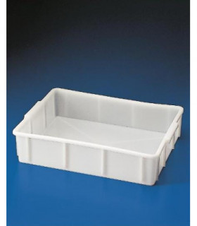 TRAY STACKABLE DEEP HDPE, 10L, 310x415x97mm, White