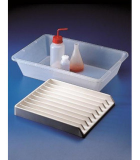 TRAY INPUT PVC, 9 CHANNEL , 25mm W, 300 x355 x42mm