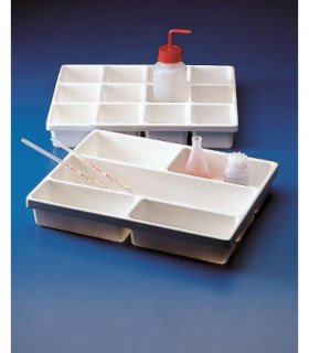 TRAY INPUT PVC, 5 COMPARTMENT, 304 x404 x64mm, Compartments: 100x185 (4),100x385 (1)