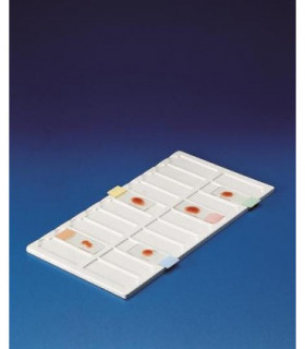 TRAY FOR SLIDES PVC, 20 PLACE, 190X340X8mm